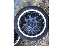 "4 BBS RS 771 VW Golf Mk 3/4 Blue Alloy Wheels 5 Stud 16"" 6.5J ET42"