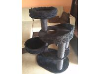 Trixie Fillippo Cat Tree Plush Luxurious Very Sturdy for Big Cats Used