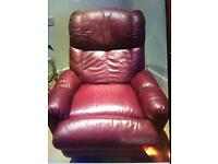 Leather Recliner chair x 2
