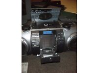 JVC BOOM BOX MODEL RV-NB70BIPOD/IPHONE DOCK WOOFER SPEAKER WITH CONNECTION FOR MP3/MIC/CD/GUITAR