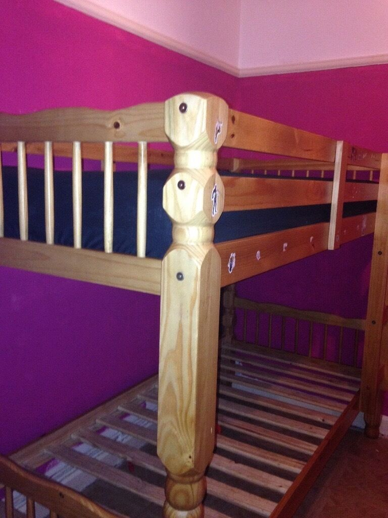 pine bunk bed chunky