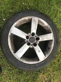 Saab Vauxhall Alfa 17 inch alloy wheels with good tyres pcd 5x110 5 stud