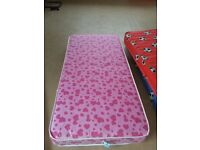 Single 3ft Pink White Loveheart Themed Mattress 190 90 Girl