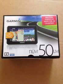 "Brand New Boxed Garmin DriveSmart 50LM Sat Nav with Mount -5"" Display Western Europe–Black RRP £119"
