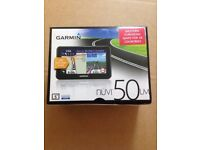 "Brand New Boxed Garmin DriveSmart 50LM Sat Nav with Mount -5"" Display Western Europe–Black RRP £119"
