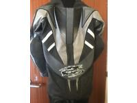 One piece motorcycle leathers
