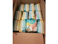 52 packs NewBorn Pampers nappies 22 in each pack. Joblot