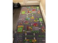 Play mat and car toys and wood n car port