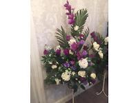 Wedding Purple Flower Arrangement