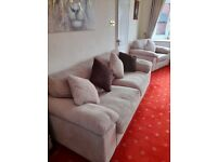 3 PIECE SUITE WITH MATCHING CUSHIONS