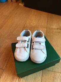Boys Lacoste Marcel Trainers in box infant size 6