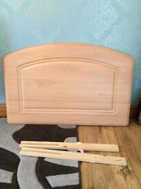 Pine headboard - for a single bed