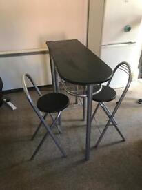 Breakfast Bar & 2 Chairs