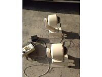 Two large corner security cameras for sale.