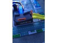 Big city car track
