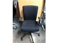 Black Fabric Executive Office Desk Chair | Fully Adjustable