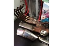 2007 CB600F ABS FULL EXHAUST SYSTEM
