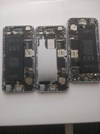 Three iphone 6 phones for parts and accessories/tools