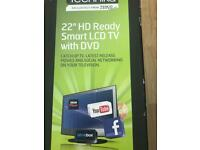 """22"""" HD Smart TV with built in DVD"""