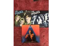 Collection of the police vinyl