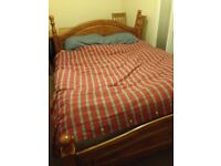 Queen size bed for sale Wooden, very sturdy