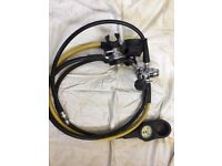 Mares Abyss with cold water kit inc, Oct, Pressure Gauge, Inflator hose