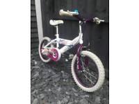 "Girls 16"" Huffy style bike"