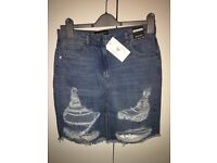 In The Style, Size 10 Denim skirt, BNWT.
