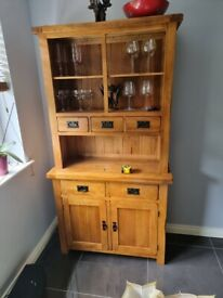 Solid oak kitchen dresser for sale