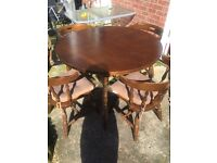 Small dinning table with 4 chairs