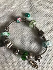 Anna bracelet with pandora charms