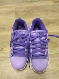 Purple sidewalksport heelies