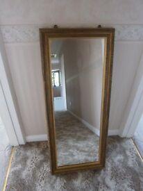 Ornate, Gilt Effect, Long Mirror vgc £30