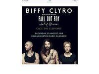 Biffy Clyro Ticket Glasgow