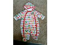 Hungry caterpillar snowsuit
