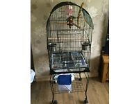 PARAKEET CAGE AND STAND WITH ACCESSORIES NEW IN BOX