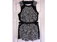 River island play suit size 10