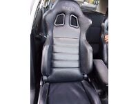 Sparco R100 Compact Vinyl Car Seat Synthetic Black Faux Leather