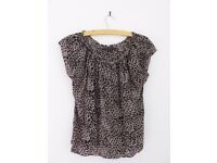 Silk leopard print top from Coast size 16