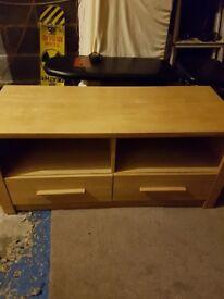 Oak tv unit solid. Good condition