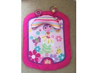 Bright starts girls baby play mat tummy time pink