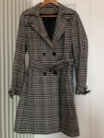 Black and white check coat size 12 from principles