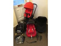 Quinn's Mood 3 in 1 + Isofix car base and rain cover