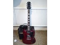 Gibson Epiphone SG-400R Rare open book headstock 1990 with original case