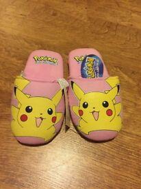 Brand New Pokemon Slippers size 12-13