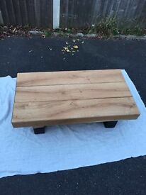 Grab yourself a bargain! Solid Oak Railway Sleeper Coffee Table
