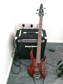 Hohner Bbass 4Q and Hartke A100