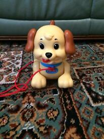 Fisher Price Pull Along lil Snoopy Dog With Barking Sound