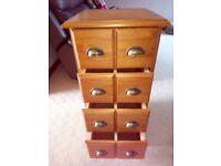 Quick Sale Wooden Unit 4 Drawer.