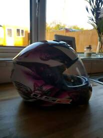 Ladies motorbike helmet